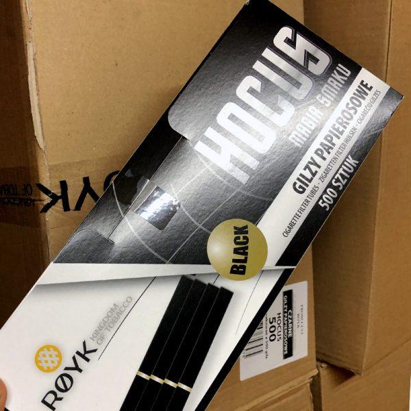 Гильзы для сигарет «Хокус черные» (BLACK) — 500 штук (Польша)